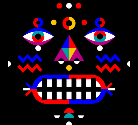Sumu dance mask illustration.
