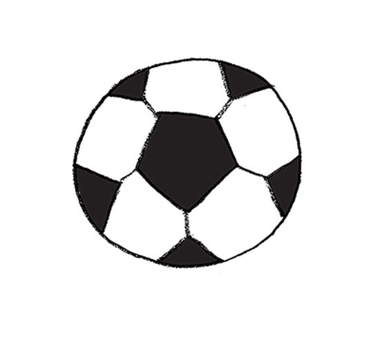 Illustration of a soccerball